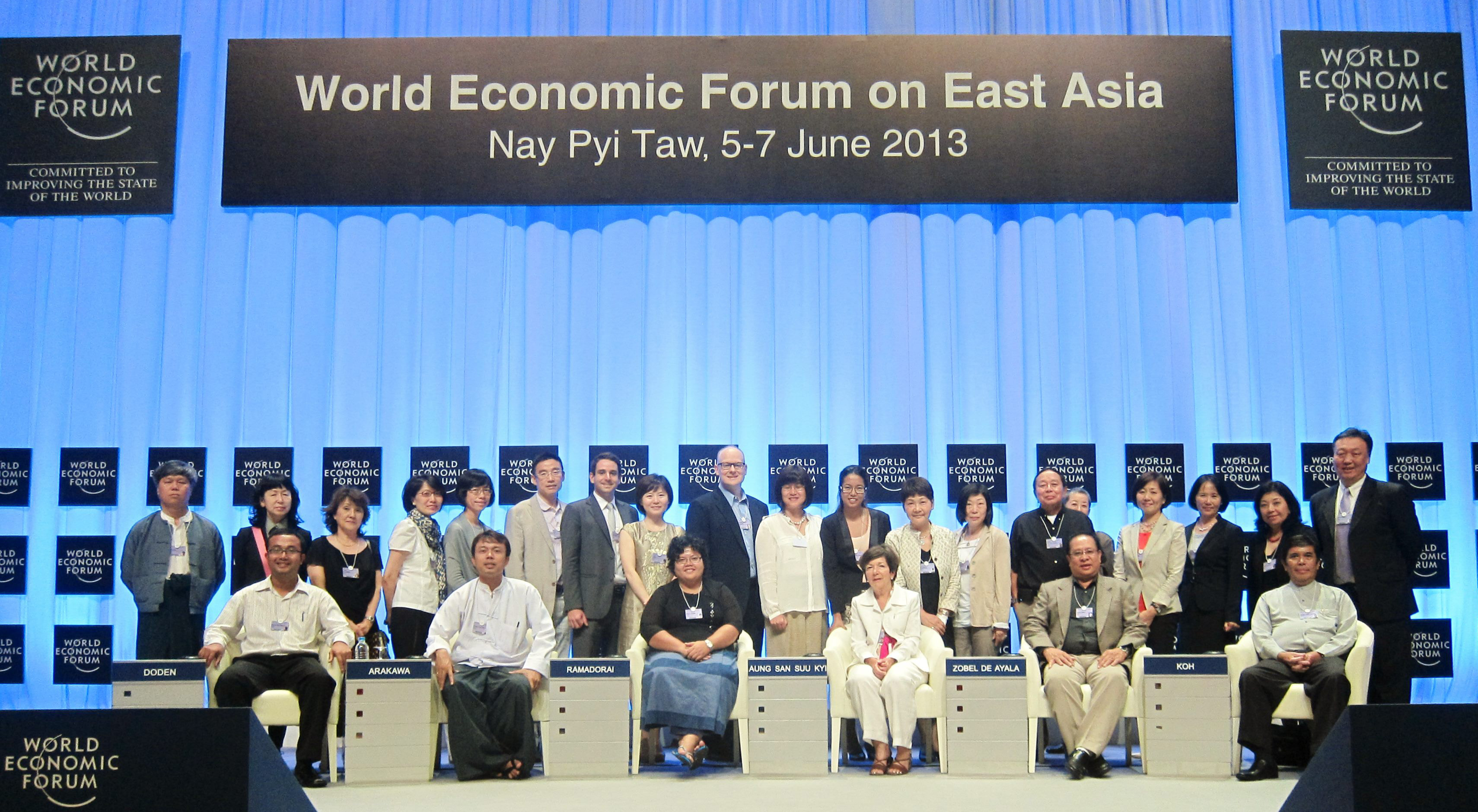 The CIAP team of 24 interpreters at the World Economic Forum in Nay Pyi Taw, Myanmar in June 2013.