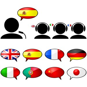 How simultaneous interpreters combine languages