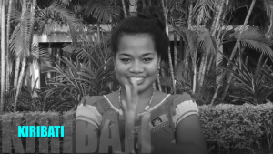 Interpeter of Kiribati sign language